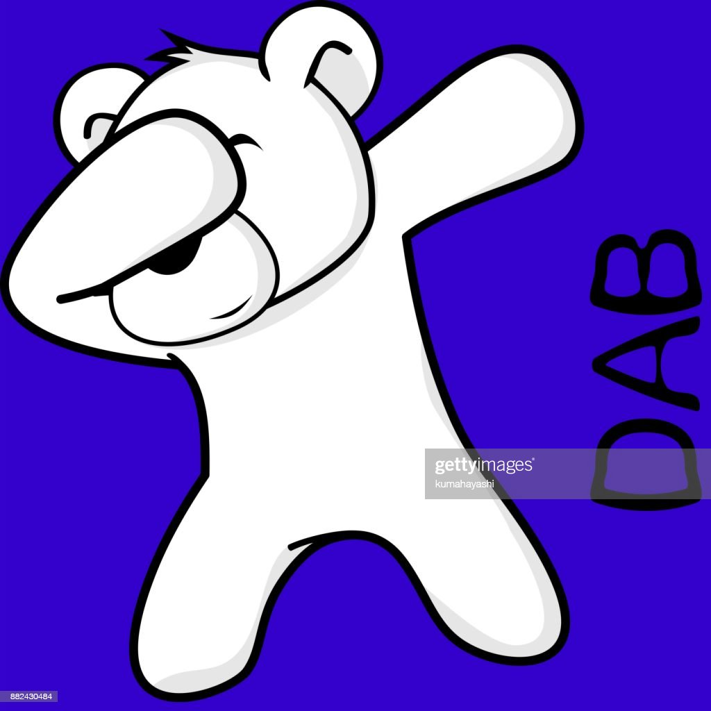 dab dabbing pose polar bear kid cartoon vector art getty images