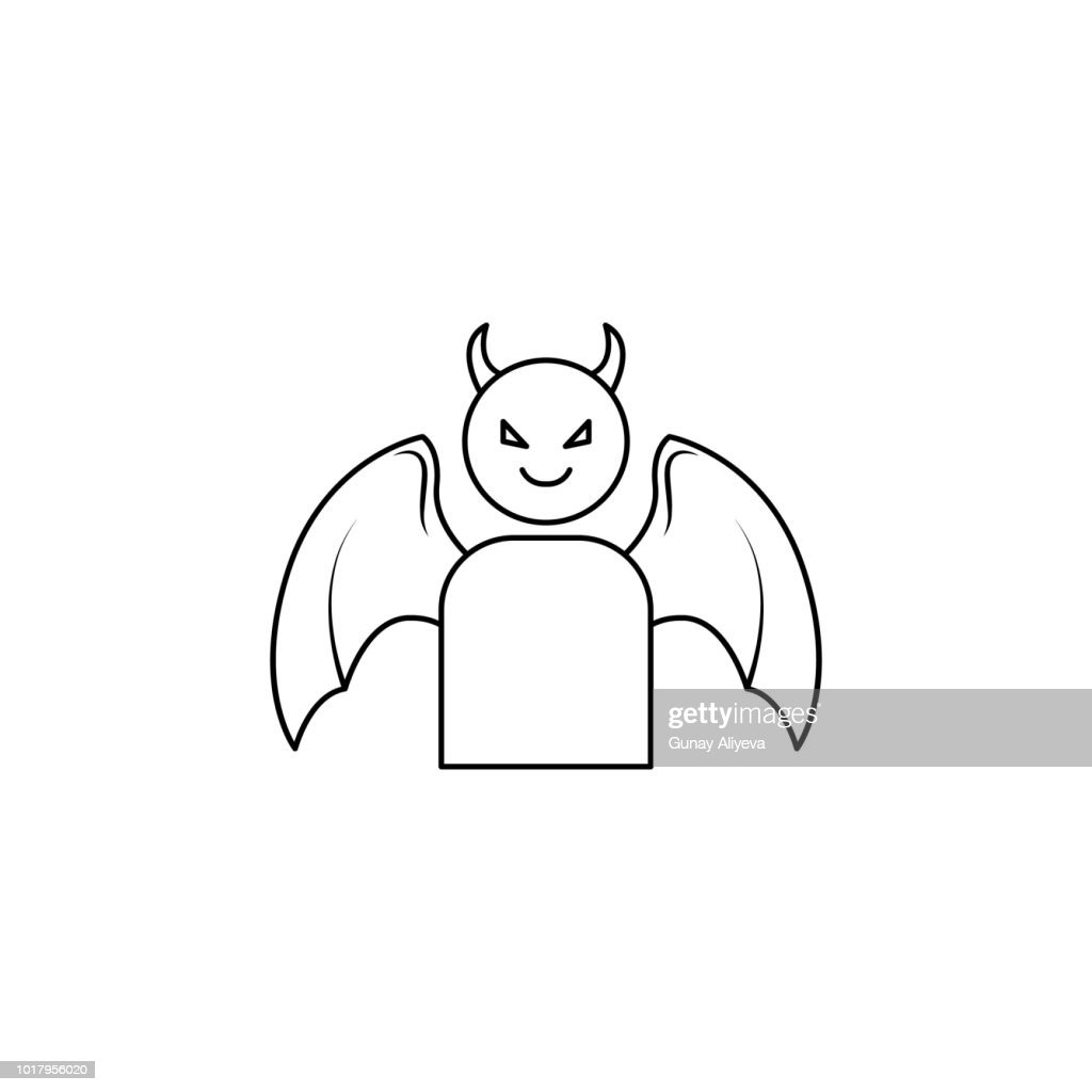 daemon icon. Element of angel and demon icon for mobile concept and web apps. Thin line  icon for website design and development, app development. Premium icon
