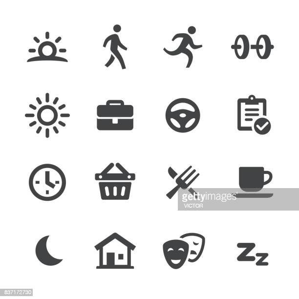 daily life icons - acme series - day stock illustrations, clip art, cartoons, & icons