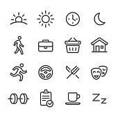 Daily Life Icons - Line Series