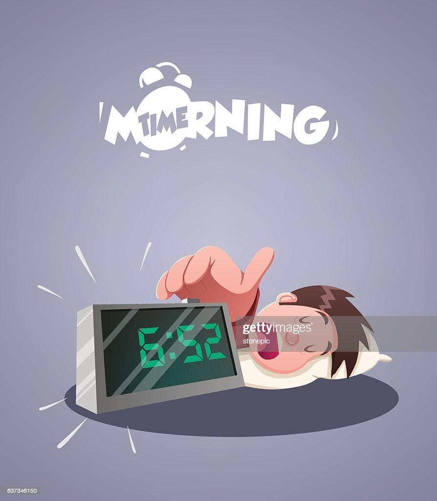 Daily Morning Life. Early morning alarm clock