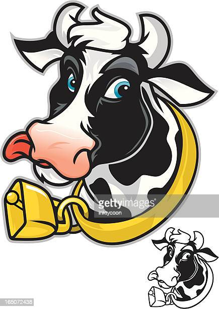 dairy cow - licking stock illustrations, clip art, cartoons, & icons