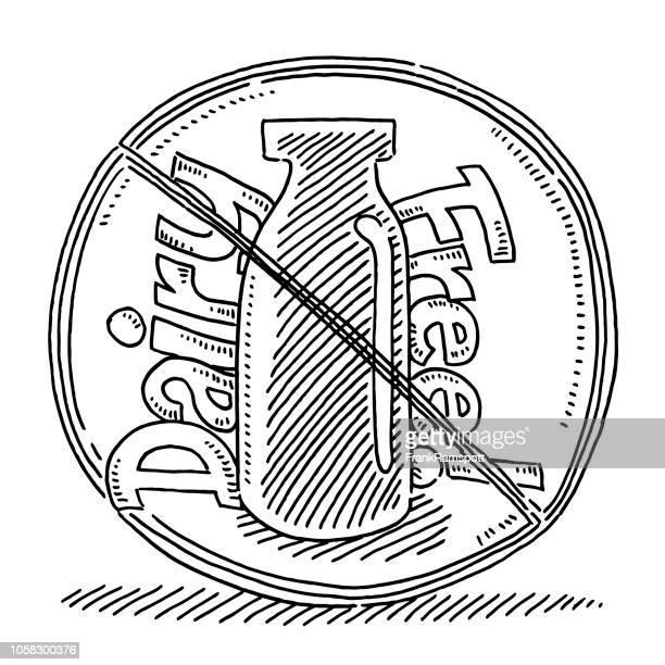 Freie Milchflasche Zeichnung zu unterzeichnen