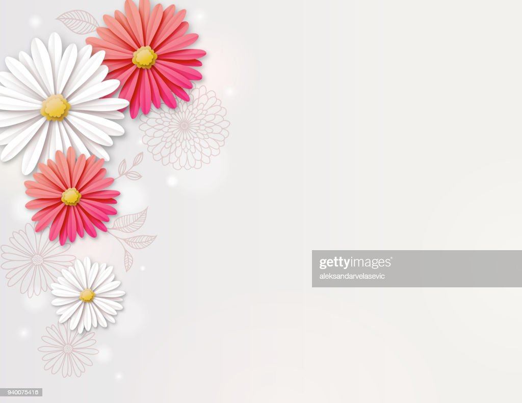 Daisy Flower Background Vector Art Getty Images