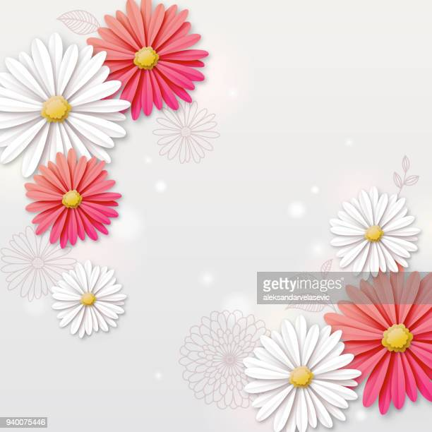 Paper flower stock illustrations and cartoons getty images daisy flower background mightylinksfo