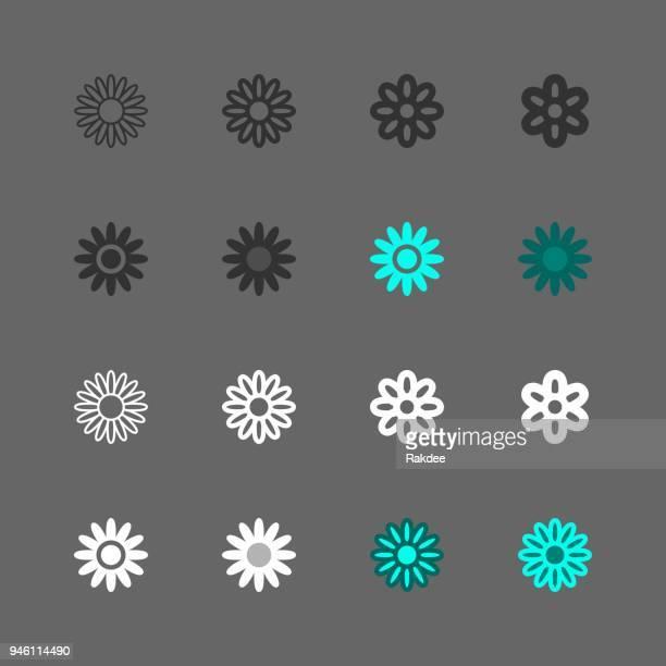 daisy icon - multi series - daisy stock illustrations