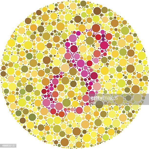 ilustrações, clipart, desenhos animados e ícones de daltonism teste - color blindness