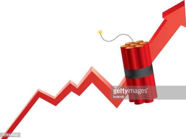 damage growth - explosive stock illustrations