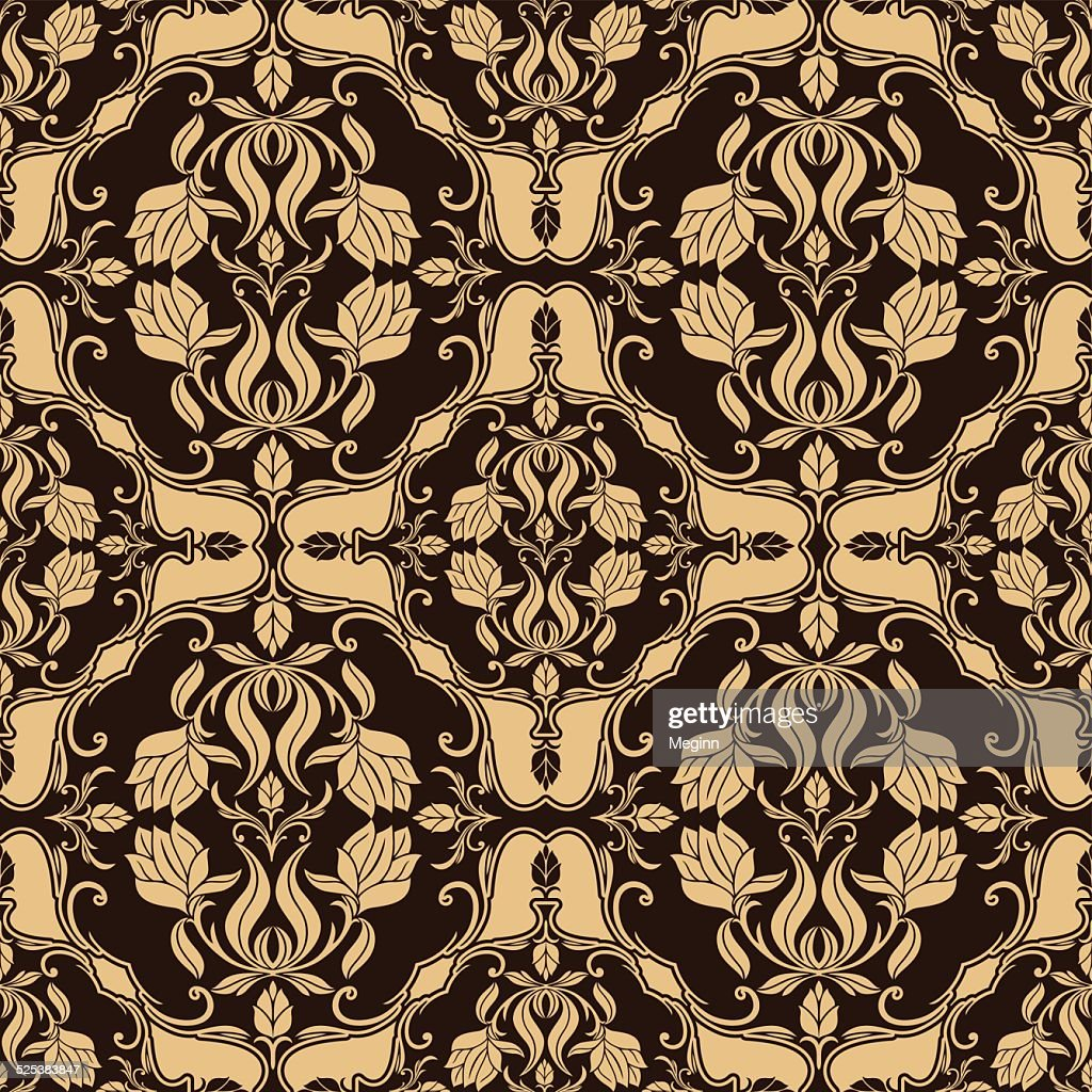 Damask beautiful background, luxury floral ornament