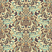 damask floral seamless pattern. vintage vector background