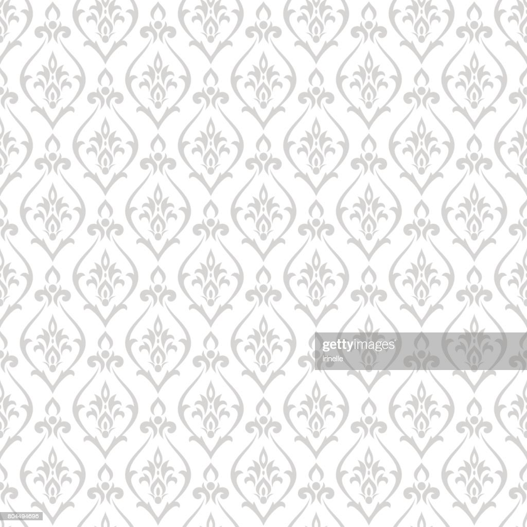 Damask pattern vector. Design print for wallpaper