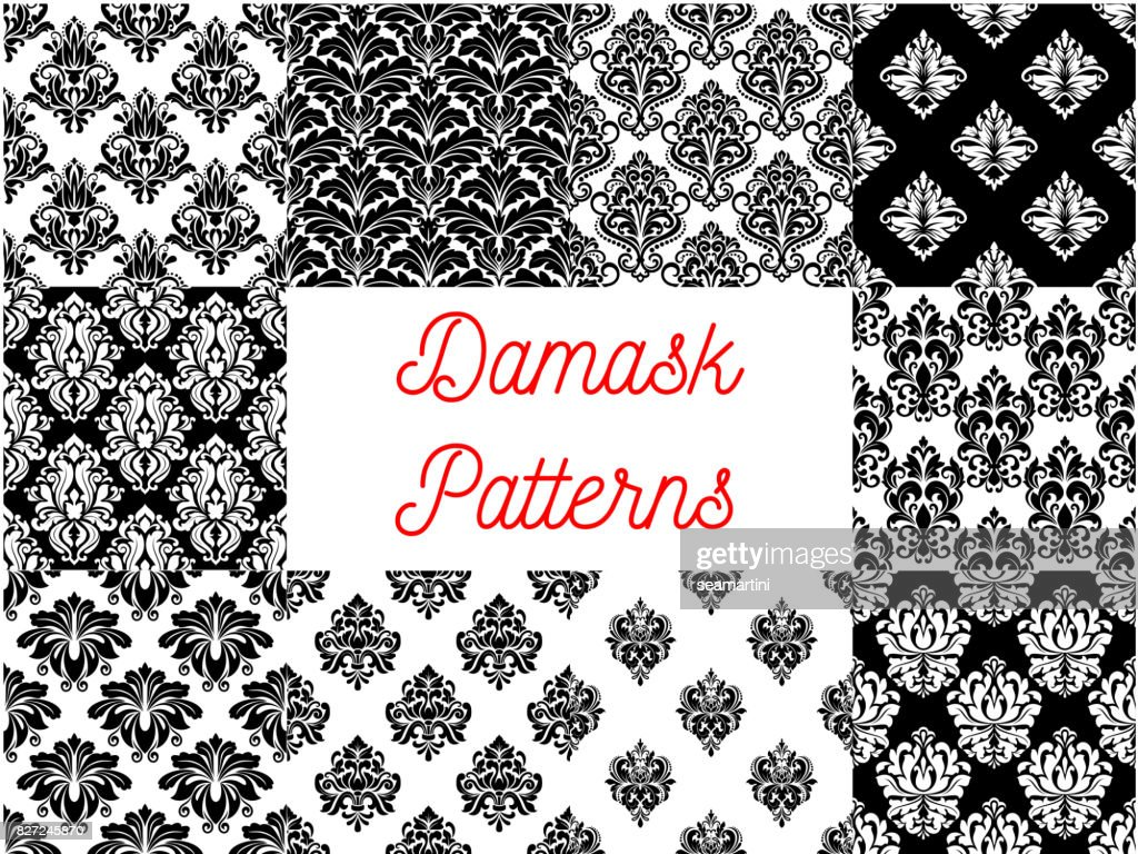 Damask patterns. Ornamental decoration