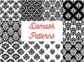 Damask patterns. Ornamental decoration