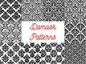 Damask seamless decor patterns