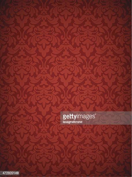 stockillustraties, clipart, cartoons en iconen met damask seamless pattern - only two credits! - koningschap