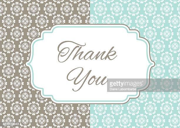 ilustraciones, imágenes clip art, dibujos animados e iconos de stock de tarjeta de agradecimiento para damascena - gracias
