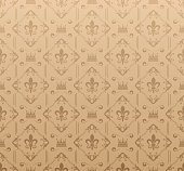 Damask wallpaper. Brown color. Vector illustration