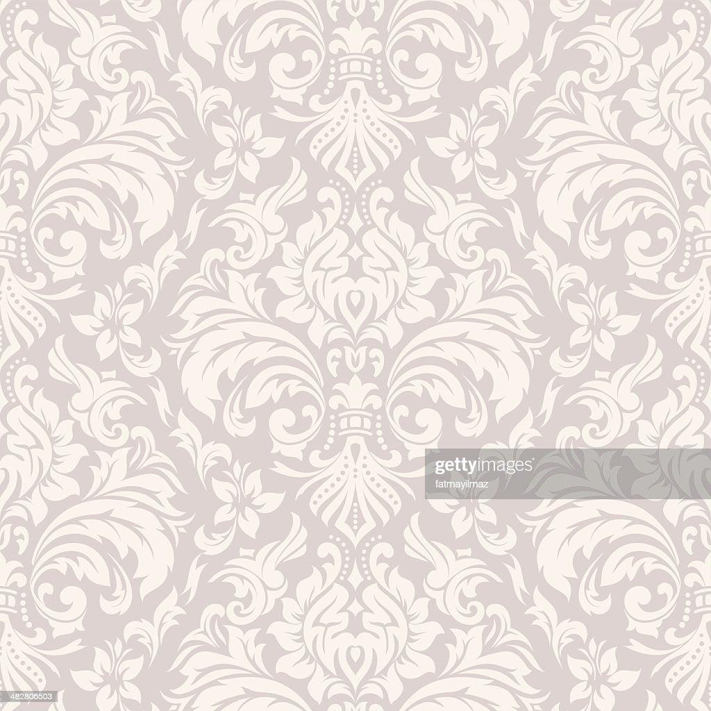 Damask Wallpaper Pattern : Stock Illustration