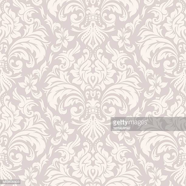 damask wallpaper pattern - luxury stock illustrations
