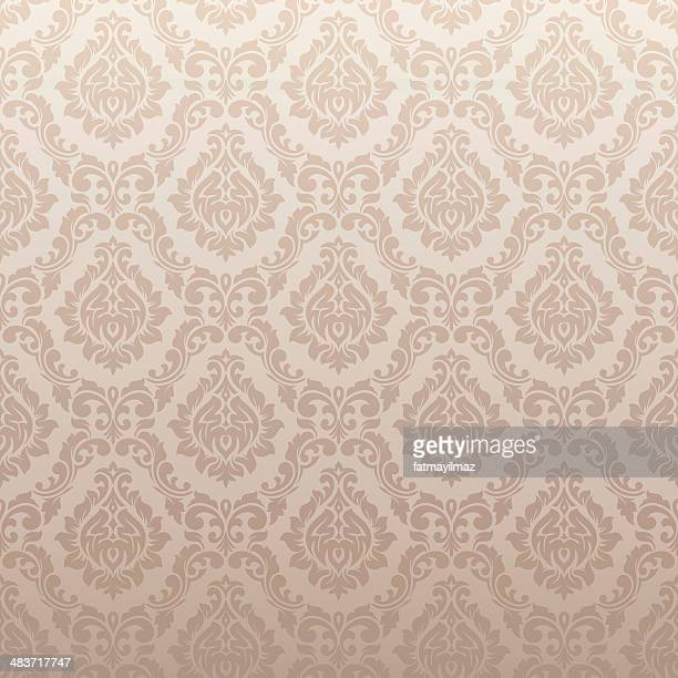 damask wallpaper pattern - victorian wallpaper stock illustrations