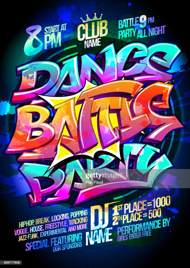 Dance battle party poster