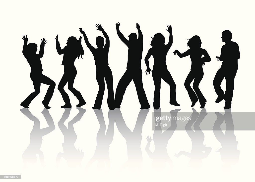 dance crowd vector silhouette vector art getty images rh gettyimages com crown vector graphic crown vector free download