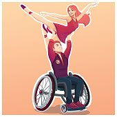 Dance for people with disabled activity.