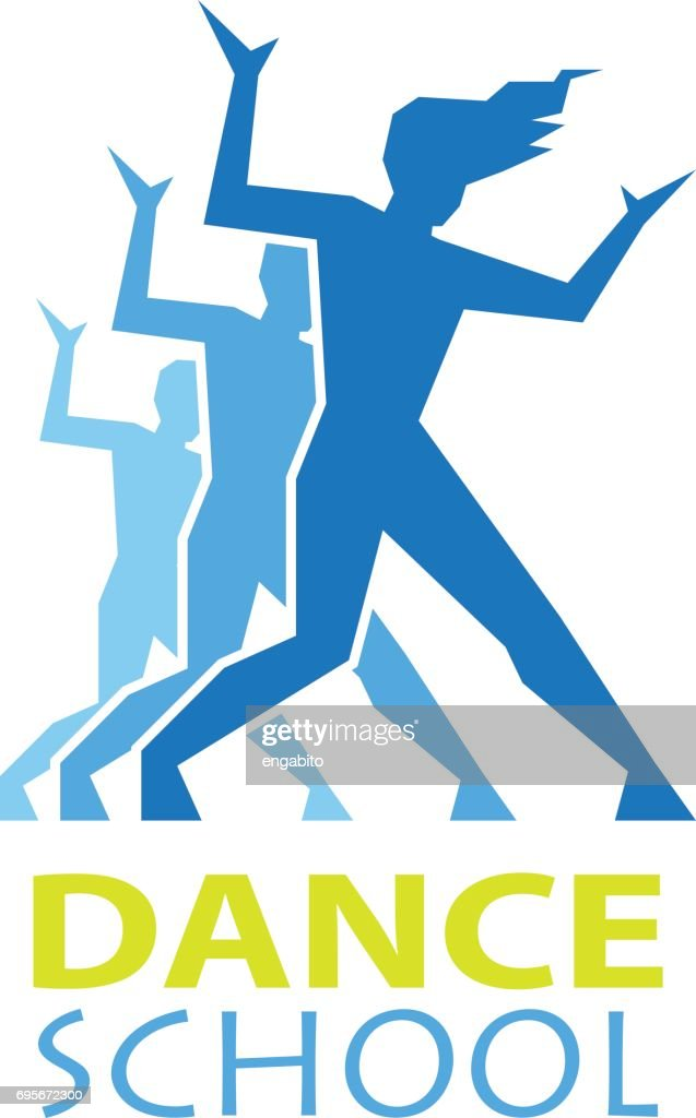 dance icon for dance school, dance studio. vector illustration