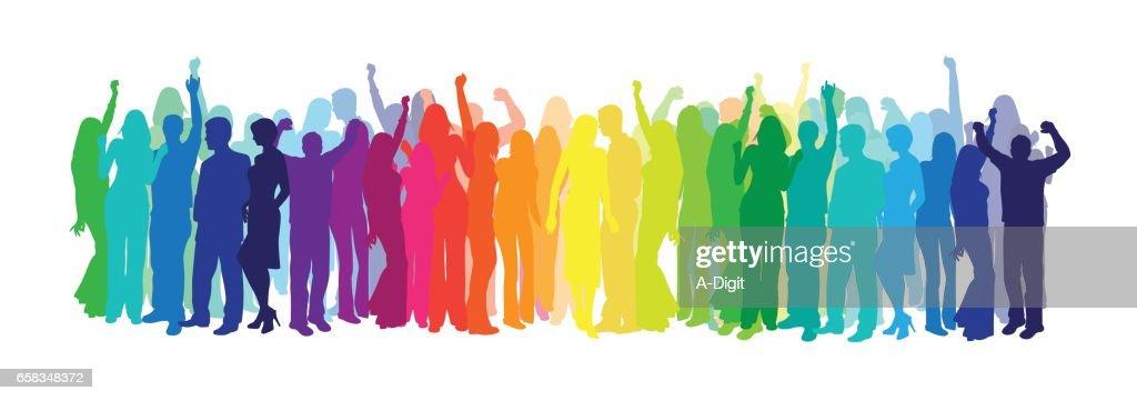 Dance In Colors : Stock Illustration