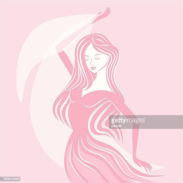 dance in pink - exclusive to istockphoto. - istock_photo stock illustrations