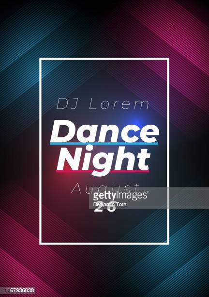 dance night party poster background - template stock illustrations