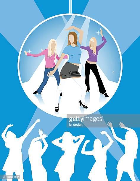 ilustraciones, imágenes clip art, dibujos animados e iconos de stock de baile toda la noche - baile moderno