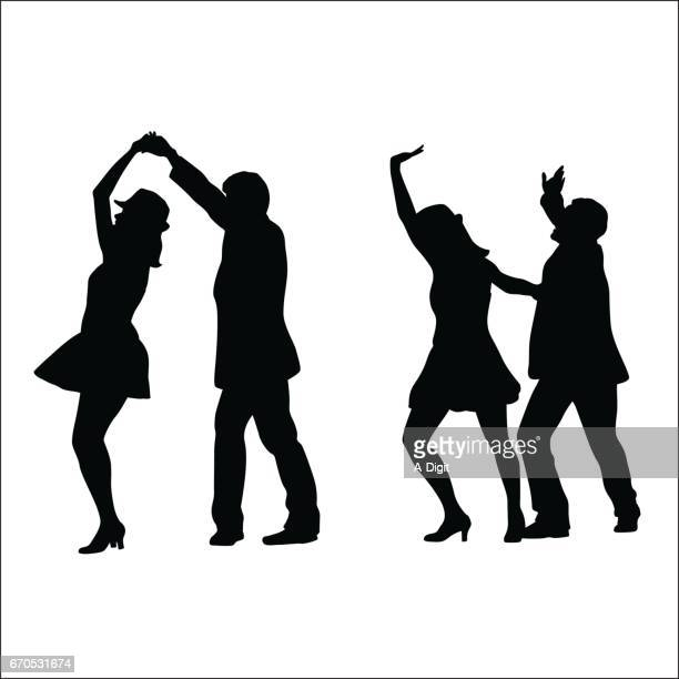 dance night - latin american dancing stock illustrations, clip art, cartoons, & icons