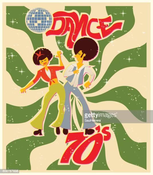 dance style 70s - modern rock stock illustrations