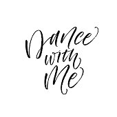 Dance with me card.