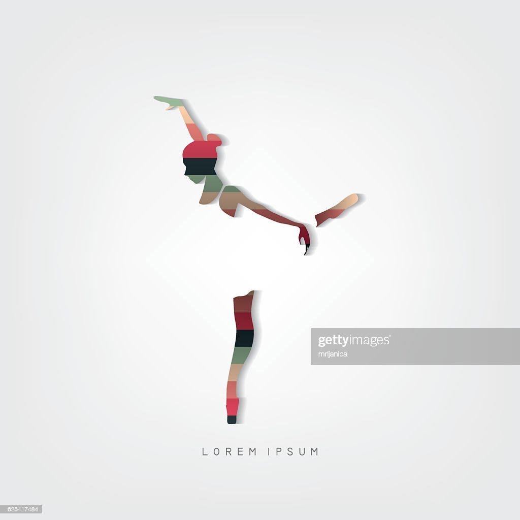 Dancer vector illustration