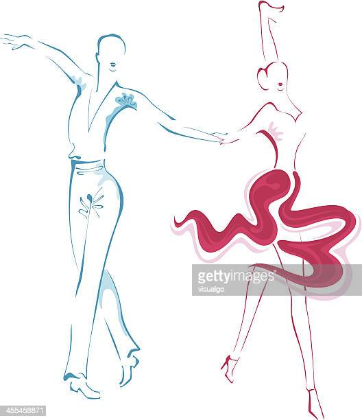 dancers - salsa dancing stock illustrations, clip art, cartoons, & icons