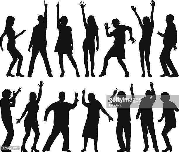 dancers - dancing stock illustrations