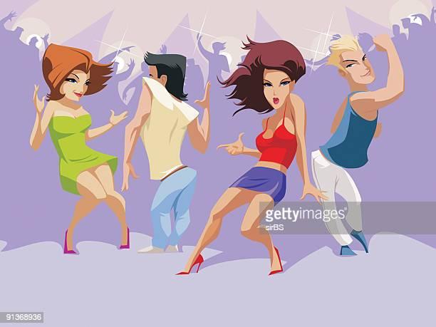 ilustraciones, imágenes clip art, dibujos animados e iconos de stock de baile - baile moderno