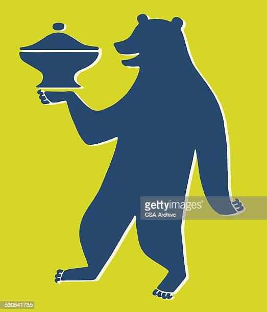 illustrations, cliparts, dessins animés et icônes de ours plat recouvert de danse - dancing bear
