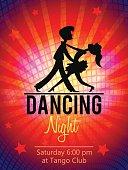 Dancing Couple. Club flyer