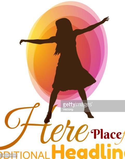 ilustraciones, imágenes clip art, dibujos animados e iconos de stock de dancing chica - baile moderno