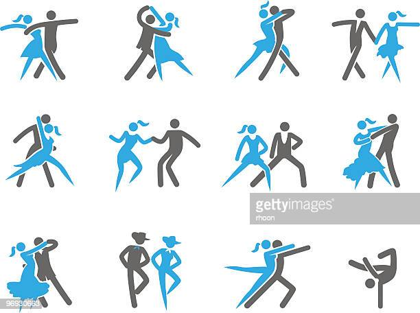 stockillustraties, clipart, cartoons en iconen met dancing in 12 different ways - gewalt