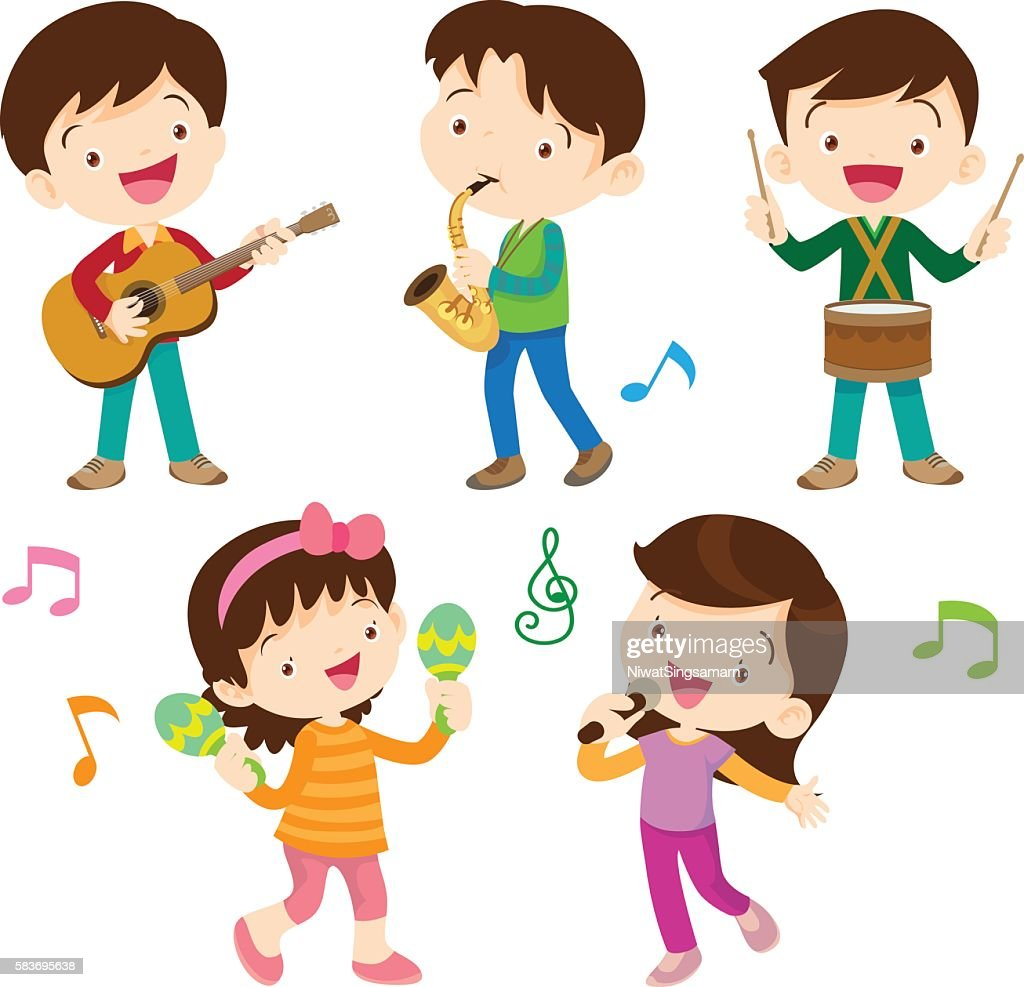dancing kids and kids with musical