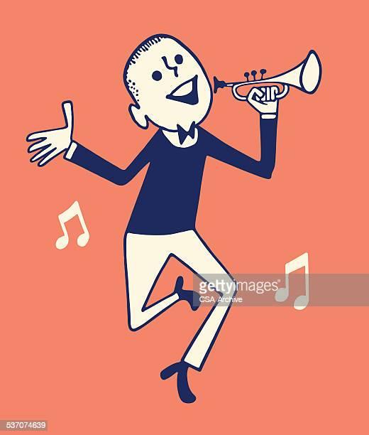 Dancing Man and Trumpet