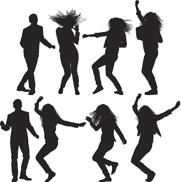 dancing people - femininity stock illustrations