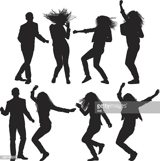 dancing people - dancing stock illustrations, clip art, cartoons, & icons