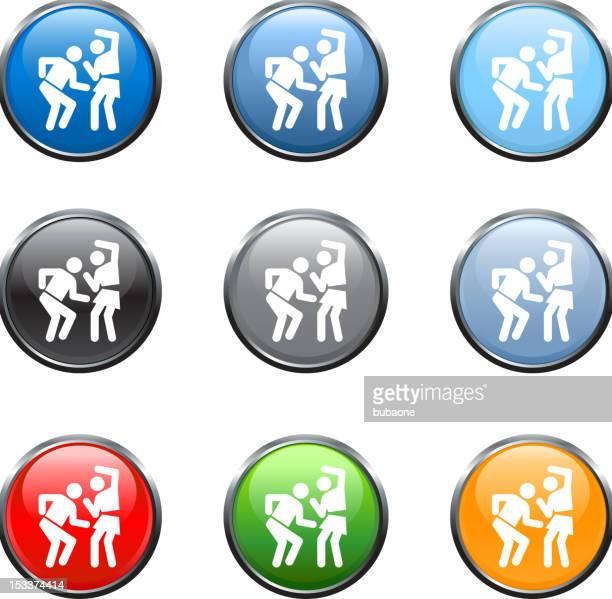 , arte vettoriale royalty-free danza in nove colori