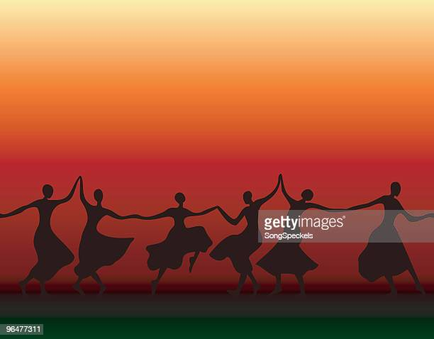Dancing Women Silhouettes