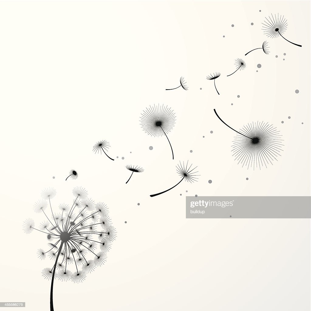 Dandelion Background High-Res Vector Graphic